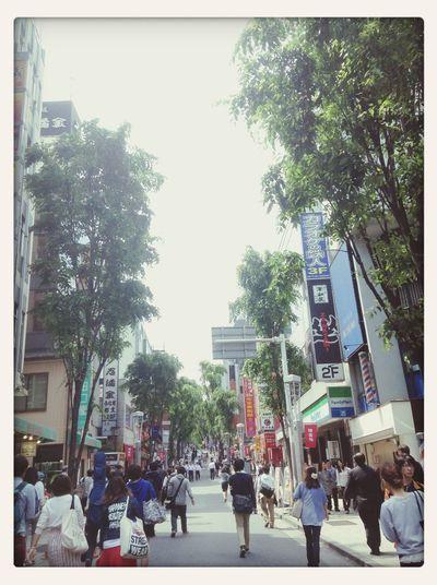 歩行者天国。いつもの登り坂もなんだか違った雰囲気に感じる陽のあたる午後(*^^*)