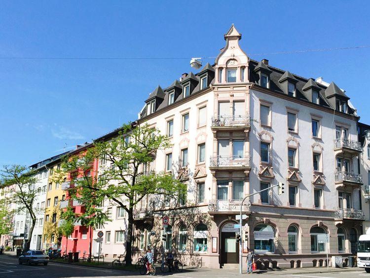 Hausfassaden im Stühlinger in Freiburg im Freiburg Im Breisgau Façade Facades