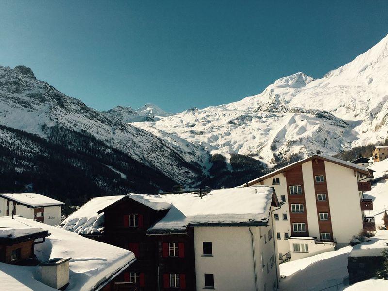 Good Morning World! Amazing Sky Beautiful Sun Saas Fee Snow Mountains Go Skiing Showcase: February