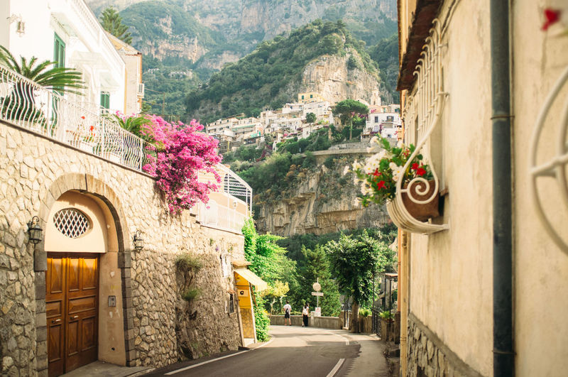 Road Amidst Buildings At Positano