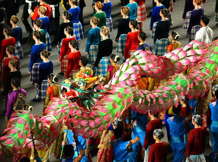 Edindurghtattoo Color Dragon Chinesedragon Edinburgh military tattoo