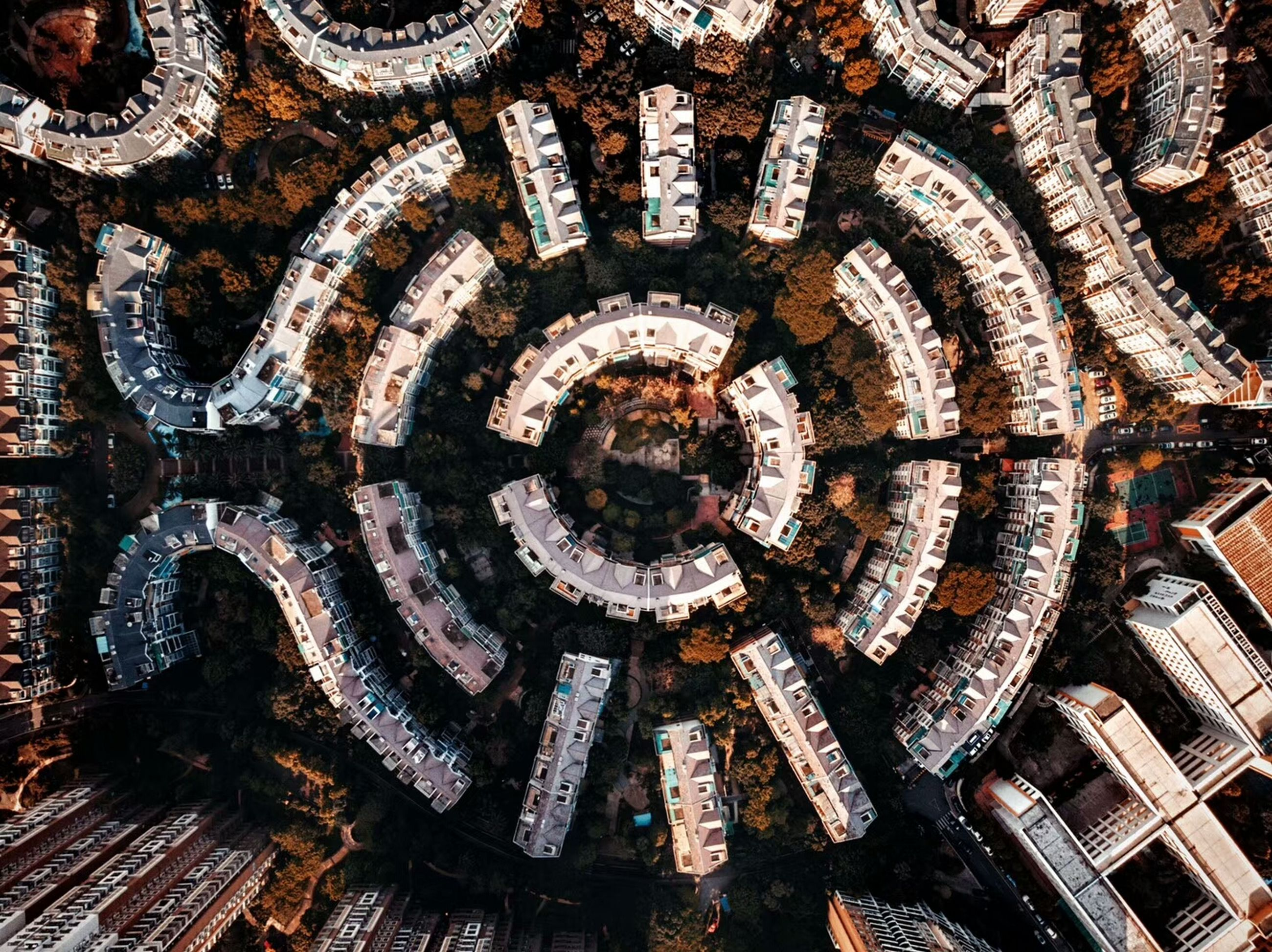 backgrounds, no people, full frame, architecture, pattern, shape, geometric shape, circle, day, indoors, directly above, built structure, directly below, travel destinations, wood - material, close-up, communication, old, wheel, digital composite