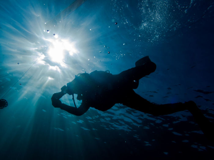 Underwater safety stop - weh island, indonesia