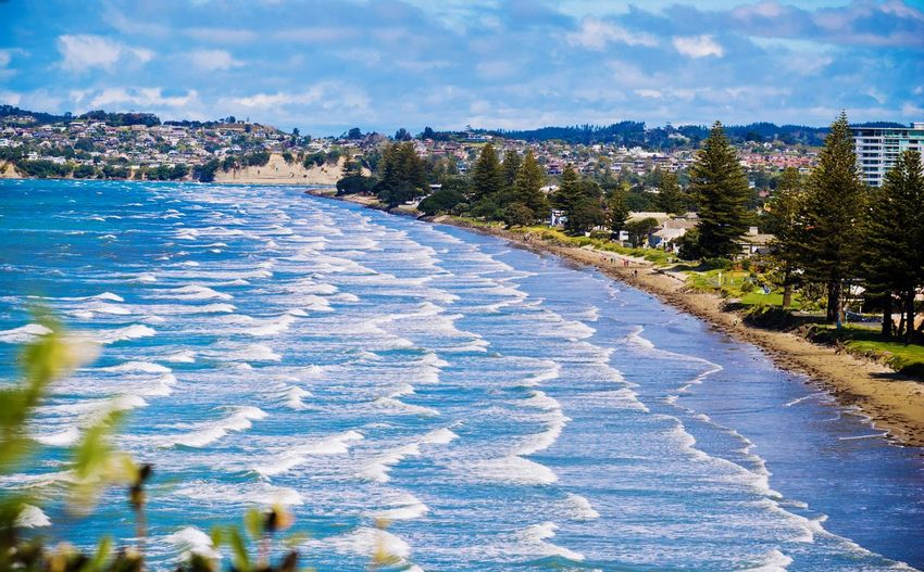 Orewa Beach New Zealand New Zealand Scenery Beach Coast Shore Ocean Waves Surf