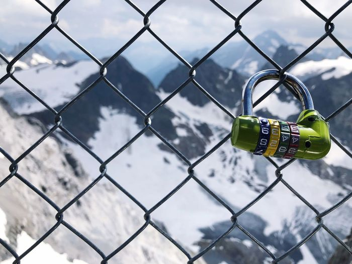 Engelberg Metal Fence Chainlink Fence Security Safety Day Focus On Foreground Protection No People