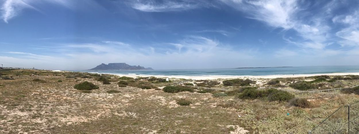 Table Mountain Panoramic Sea Sky Water Beauty In Nature Beach Land Scenics - Nature