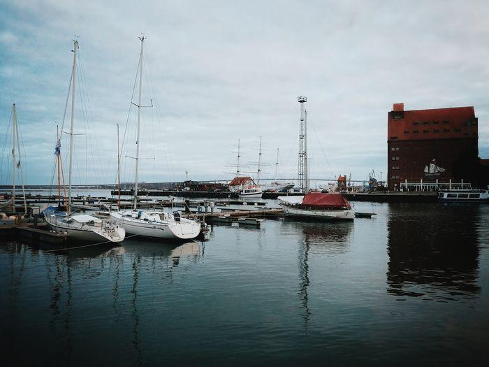 Peace... Ostsee Baltic Sea Water Nautical Vessel Harbor City Yacht Moored Sea Reflection Recreational Boat Sky Mast Sailboat Waterfront Boat Dock Sailing Pier Marina