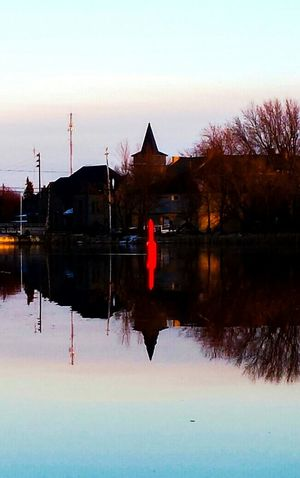 Merrickville. Building Exterior Reflection Reflection Lake Rideau Canal Transportation Moored Nautical Vessel Sunset Fresh On Eyeem