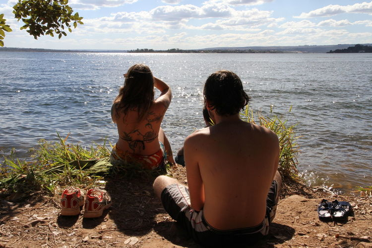 Brasilia Bliss Beauty In Nature Horizon Over Water Nature Outdoors Relaxation Summer Two People Vacations Water