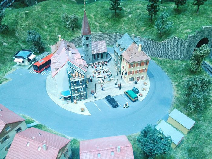 Miniversum High Angle View Aerial View No People Architecture Model Table Cityscape Modelling City
