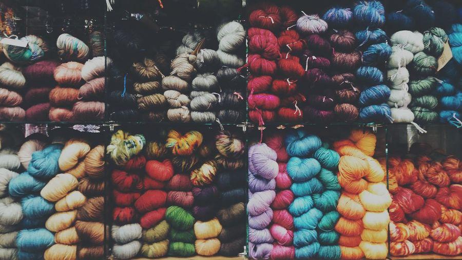 Full Frame Shot Of Balls Of Wool