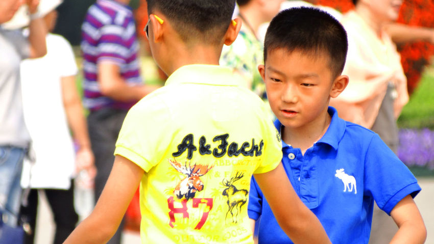 Be Brave Boys Casual Clothing Child Childhood Emotion Festival Focus On Foreground Group Of People Incidental People Innocence Leisure Activity Lifestyles Males  Men Midsection Outdoors People Real People Standing Waist Up Women