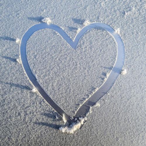 Heart shape on snow