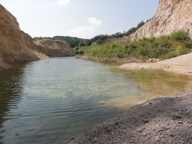 Groundwater Beach Disused Quarry Exploring Geology My Own Swimming Poll Nature Outdoors Rock Rough Summer Undiscovered Water Landscape With Whitewall