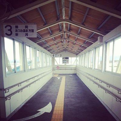 bye-bye 余目 ????? Station Japan  余目 駅
