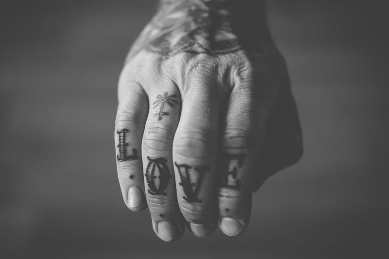 Human Hand Human Finger Human Body Part Close-up Focus On Foreground Men Real People Women Indoors  Finger Ring Day Adult People Tattoo Tattoos Art Is Everywhere Second Acts Black And White Friday Inner Power
