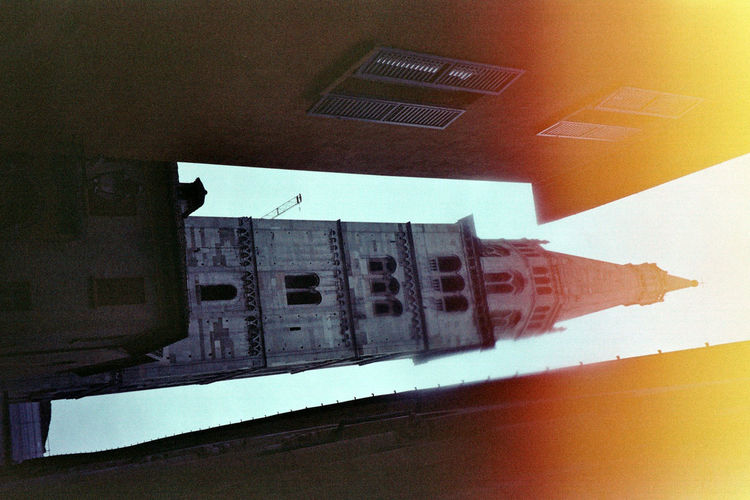 Found and Reused Film. Day Streetphotography Modena Leiblingsteil Filmphotography Architecture_collection Architecture City Building Exterior Travel Destinations Low Angle View Adapted To The City Old Lines