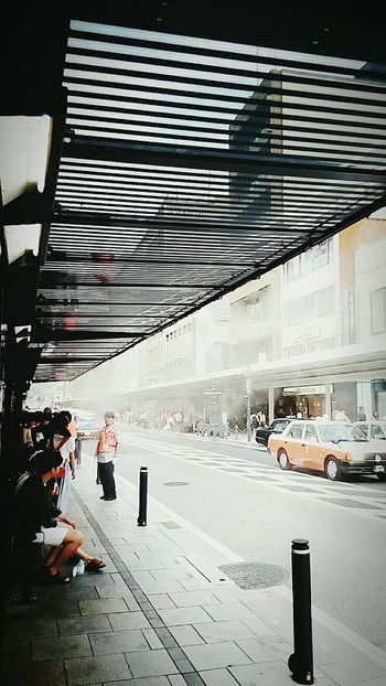 japan bas stop mist cooler Street Photography Cityscape Japanese  Kansai Summershots City Life Hot Day Mist Shower bas stop mist shower Summer Views hot day kyoto street view Streetphotography