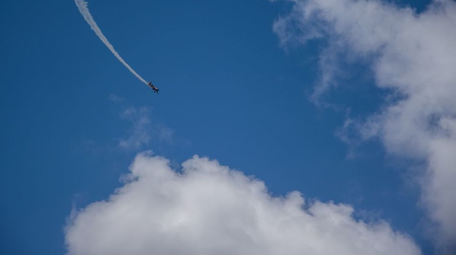 Low Angle View Of Airplane Flying