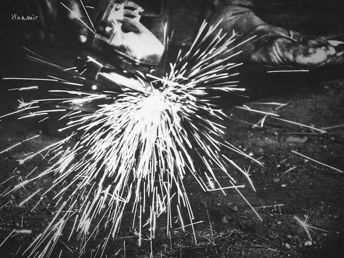 Cutting Iron Ironworkers Blackandwhite
