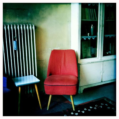 Chair Absence Empty No People Indoors  Furniture Armchair Seat Home Interior Architecture Day Vintage Red