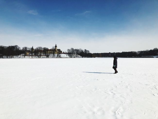 Winter Snow Cold Temperature Full Length Sport Outdoors Adventure One Person Landscape