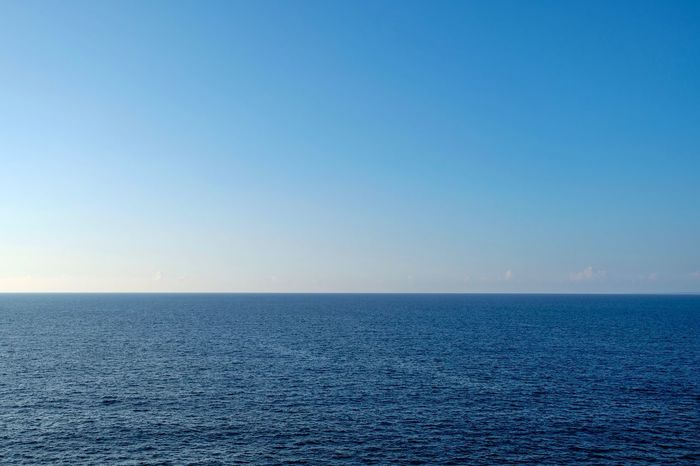 The Ocean🌊 Sea Horizon Over Water Beauty In Nature Tranquility Nature Water Tranquil Scene Blue No People Outdoors Sky Day Ocean