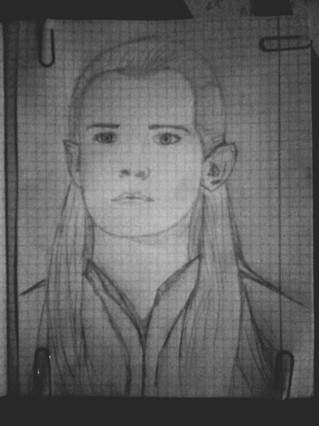 The Lord Of The Rings Legolas Art Blackandwhite