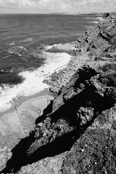 The KIOMI Collection Eyeem Edit Portugal Ocean Beach Naturelovers Rock Black & White Sintra