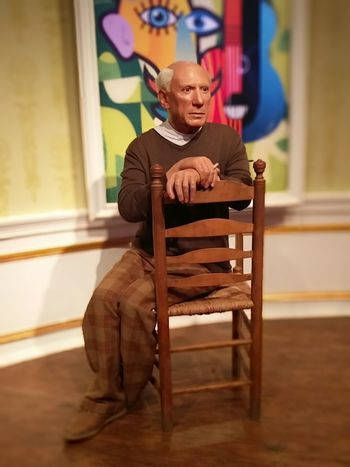 Pablo Picasso Pablo Picasso One Person GENIUS!!!! Artist Artist At Work Pablopicasso Picasso Madame Tussauds LookAlikes Blurred Background