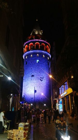 Galatatower Galatatowermanzara Galatatowers Istanbul Turkey Turkey Night Illuminated Architecture Building Exterior Celebration Built Structure Arts Culture And Entertainment Low Angle View Outdoors Crowd City People Politics And Government Sky