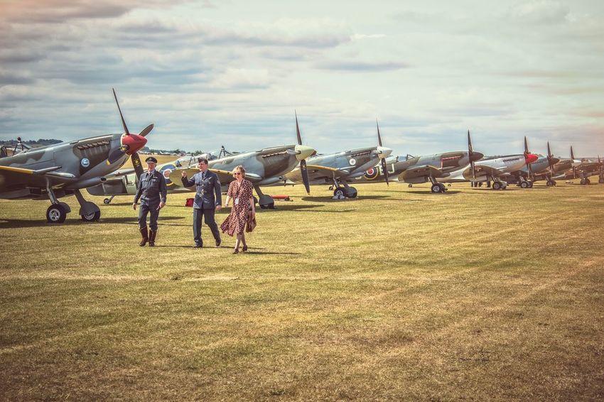 Ready to scramble Duxford Air Show Duxford Spitfire Battle Of Britain Flying Legends 1940s Raf Iwm Canon Eos 650D EyeEm Best Edits