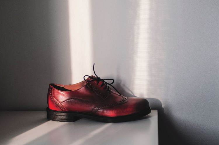 Modern Cinderella Eye4photography  EyeEm Gallery EyeEm Best Shots Shadows Red Shoe Pair Fashion Indoors  No People Things That Go Together Day Close-up