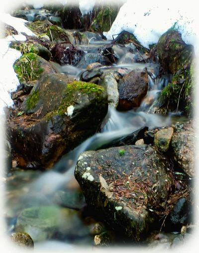 Puijo Kuopio Finland Outdoors Eye Em Nature Lover Waterfalls Spring 2016 Nature Photography Water Spring Is Coming  Eye For Photography Best EyeEm Shot Rocks Rocks And Water Water_collection Snow Snow ❄ Moss Hello World Nature Naturephotography Relaxing Taking Photos No People Showcase April