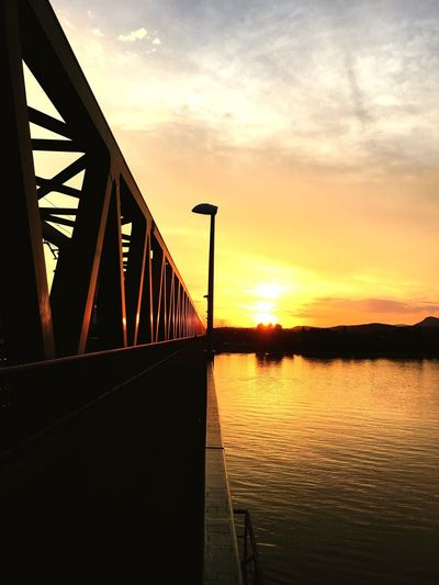 Budapest Bridge Sunset Black Gold