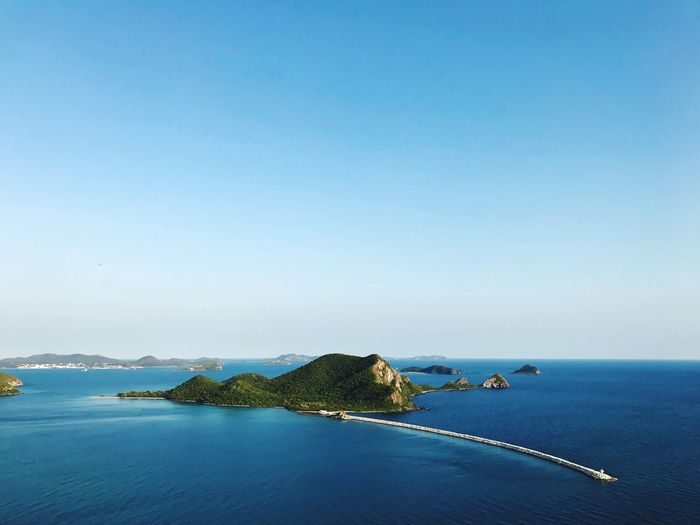 The beautiful sea in summer thailand Island Sea Summer Water Sea Sky Scenics - Nature Beauty In Nature Clear Sky Blue Copy Space Nature No People Day Outdoors Beach Land
