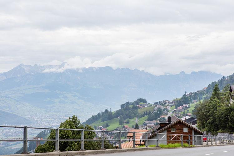 Building Building Exterior Calm Clouds Day Liechtenstein Mountainous Mountains No People Outdoors Tranquility Village