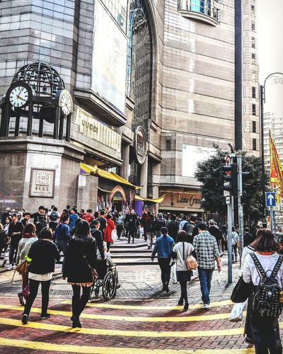 Building Exterior Built Structure Architecture Real People City Day Outdoors Urban Skyline Cityscape Streetphotography Outdoor Photography Causeway Bay Area Time Square