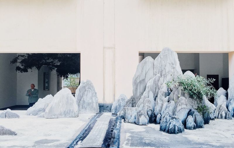 Tai Chi... Garden Concentration Meditation China Tai Chi Stone Architecture Nature Architecture Built Structure Day Building Wall - Building Feature Tree White Color Building Exterior