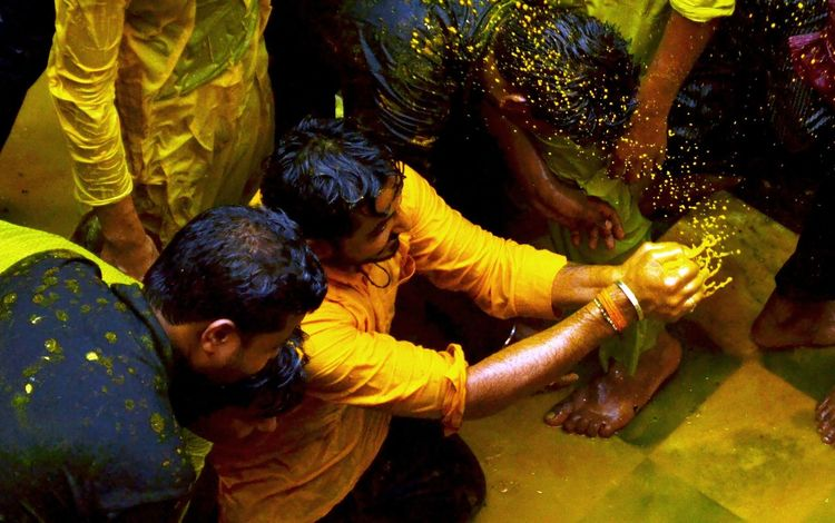 Celebrations Enjoying Life People Photography Playing With Colours Hindu Culture Done That.