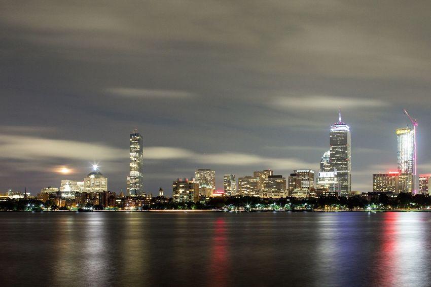 Boston, Massachusetts Building Exterior Architecture Built Structure Illuminated City Building Night