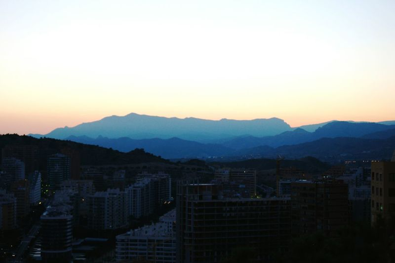 Hanging Out Landscapes With WhiteWall Things I Like Benidorm Spain Cityscape Urban Architecture Sight Seeing Sightseeing Evening Lights Watching The Sky Evening Sky Eveningsky