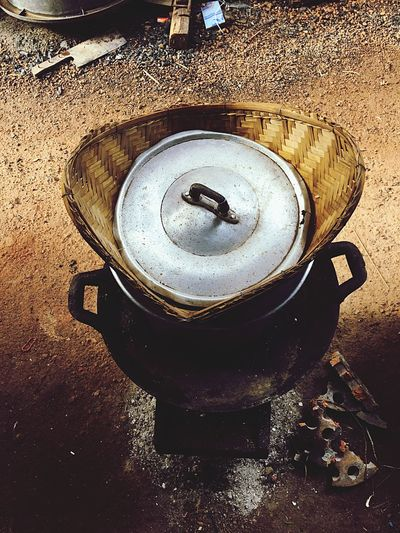 No People Day High Angle View Close-up Outdoors Vintage Still Life Slow Life ASIA Asian  หม้อนึ่งข้าวเหนียว Sticky Rice Cooker Countryside Country Life Country Living