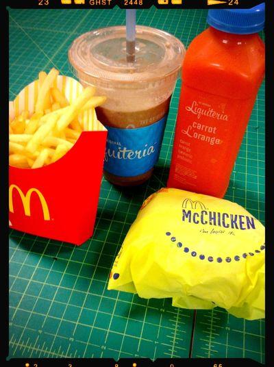 Lunch Time! Liquiteria McDonald's McChicken & Fries