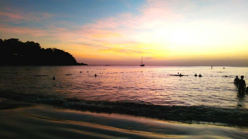 Sunset Thailand Katabeach  Colors Love Sun Sea