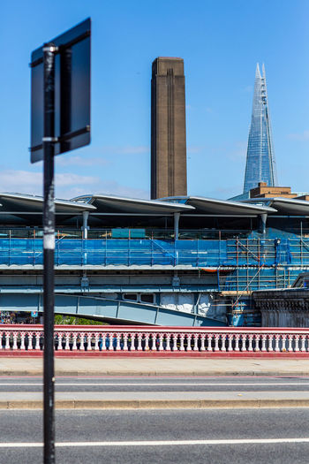 Architecture Built Structure Building Exterior Sky Day No People City Nature Outdoors Building Transportation Blue Office Building Exterior Clear Sky Connection Bridge Bridge - Man Made Structure Tall - High Skyscraper Travel Destinations Financial District  Shard London Tate Modern