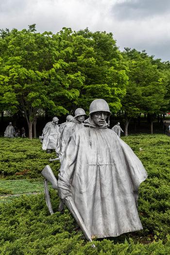 Koren War Memorial... Memorial Respect Statue Tourist USA USAtrip War Memorial Washington Washington DC Washington, D. C. WashingtonDC Day Koren War Memorial Monument Outdoors Remember Remembering Soilder Soilders Statues Statues And Monuments Tourism War Wars