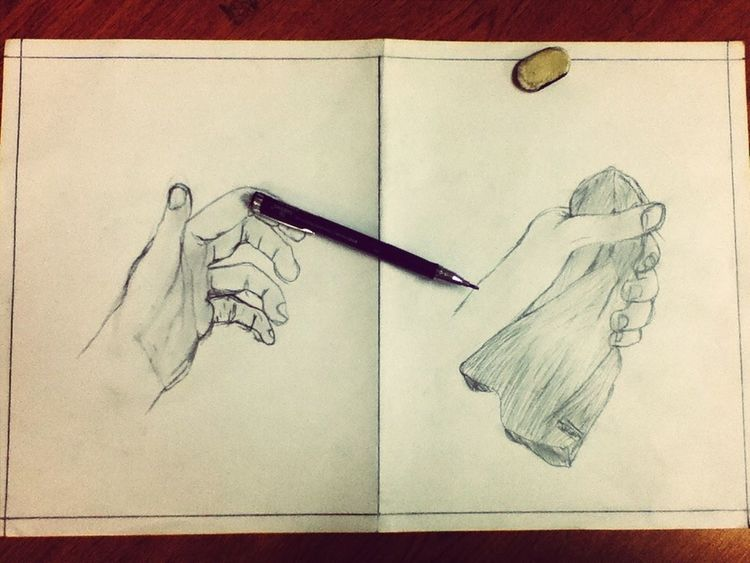 Drawing Hand Awesome Pencil