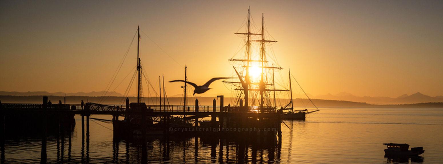 Port Townsend Pacific Northwest  Washington State Olympic Peninsula Sunrise_sunsets_aroundworld Sailboat