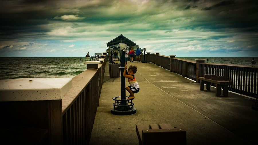 Sky Sea Mood EyeEmNewHere Summer Hurricaneseason Youth Toddler  Lost Lostboy Lost Boy Curiosity Weather Clouds Cloudy Clearwater Florida Summertime Pier60 Live For The Story The Street Photographer - 2017 EyeEm Awards Place Of Heart